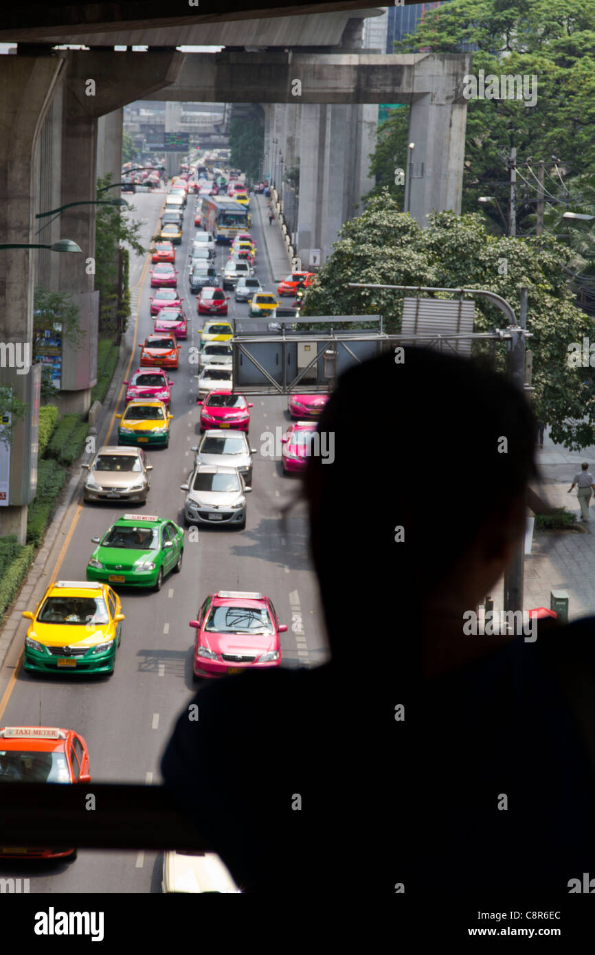 siam square traffic jam, Bangkok, Thailand - Stock Image