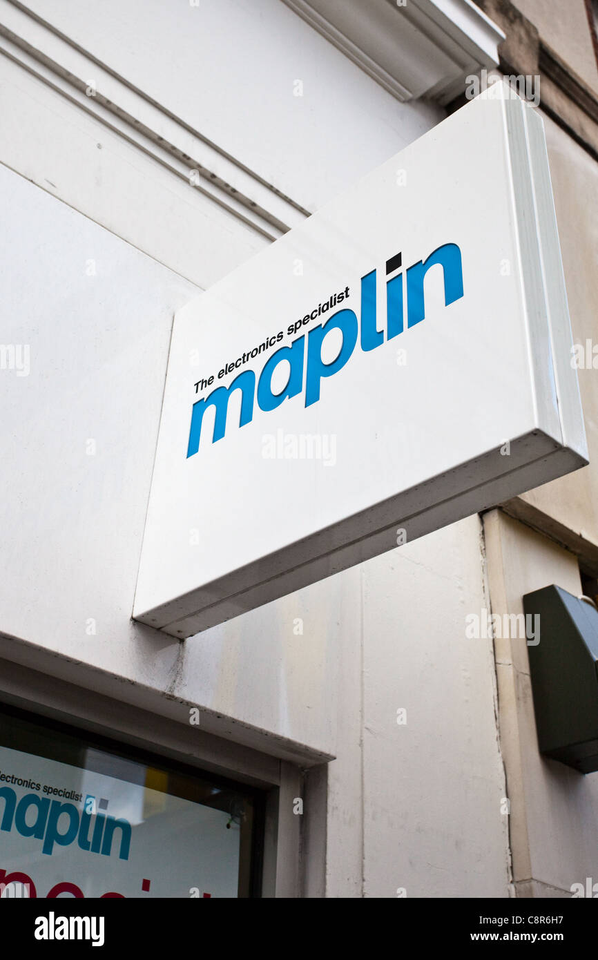 Maplin store in the UK - Stock Image