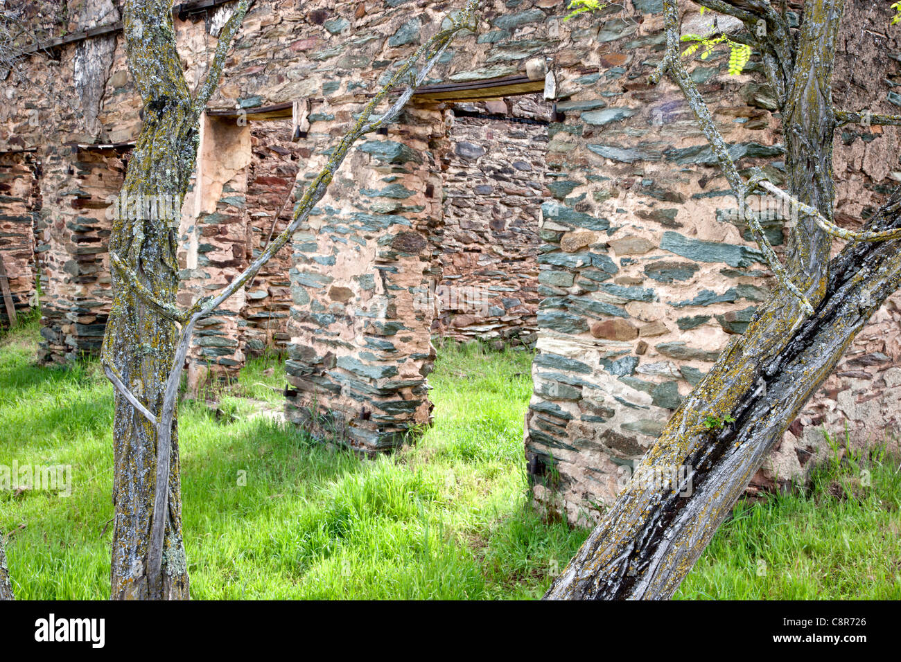 Ruins of the old Adams Express Office. - Stock Image