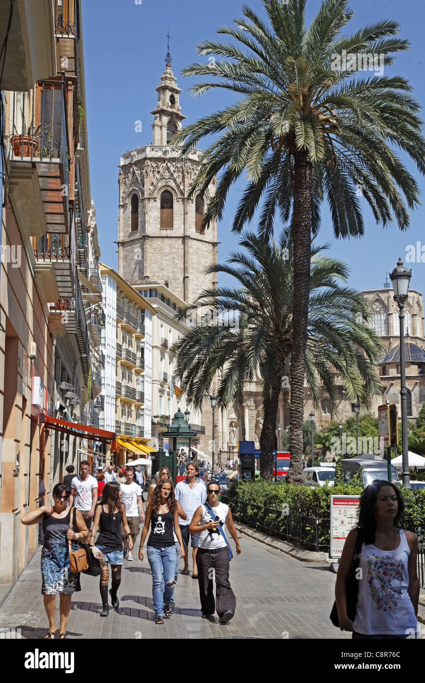 Plaza de Reina, Cathedral, Valencia, Spain Stock Photo