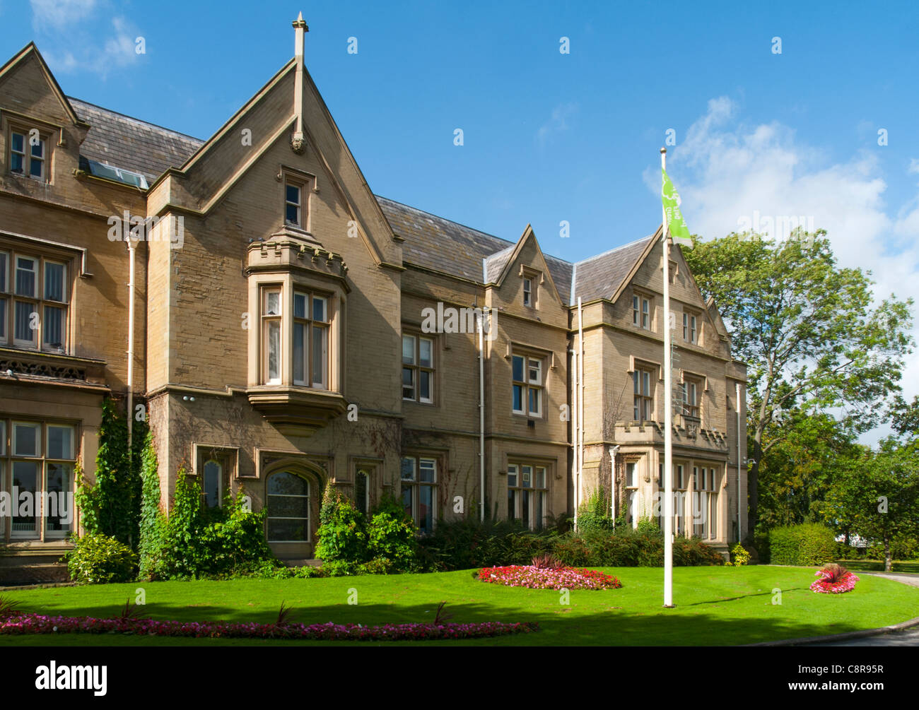 Ryecroft Hall, built 1849.  Grade 2 listed.  Audenshaw, Tameside, Greater Manchester, England, UK Stock Photo