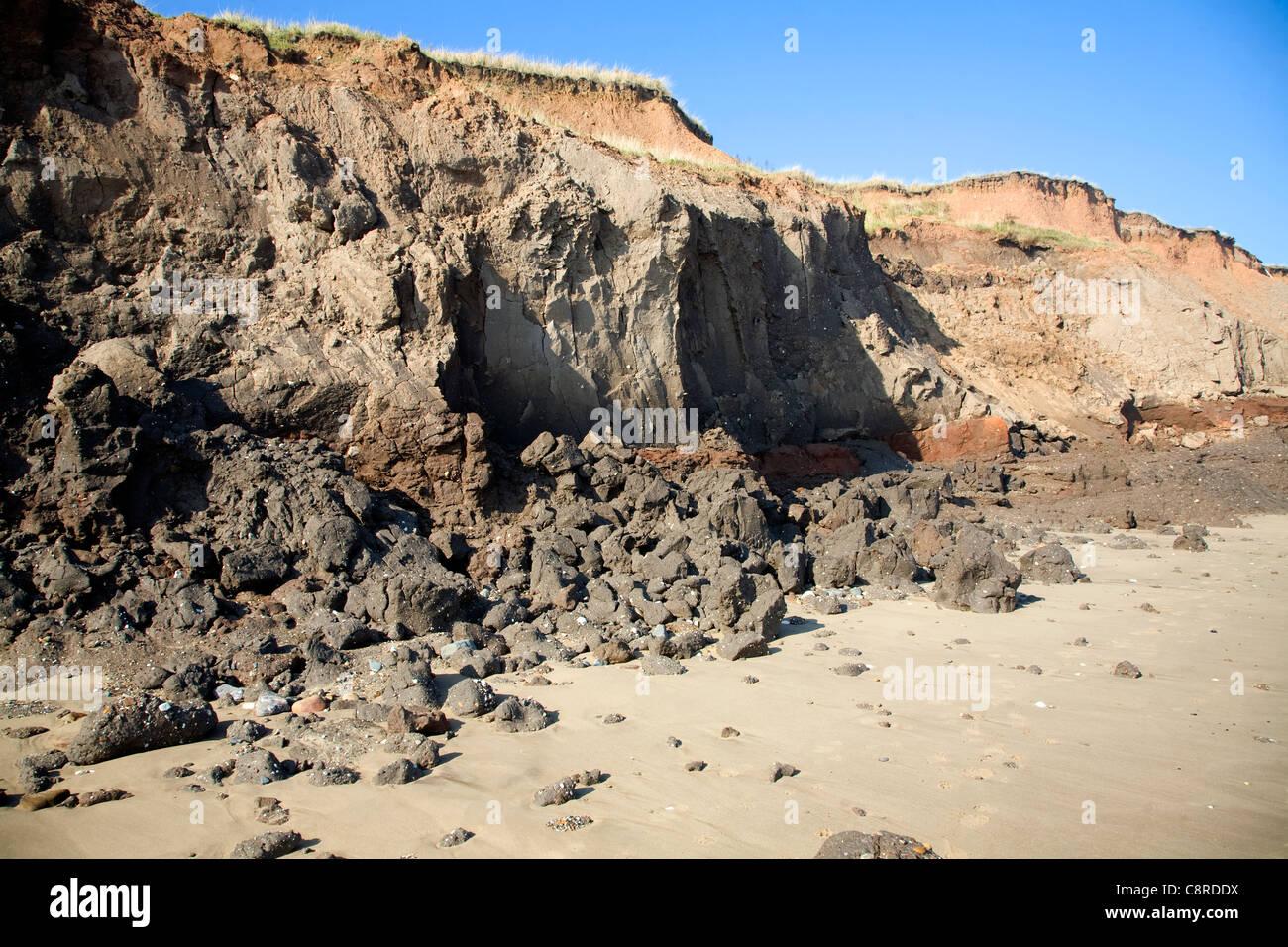 Image result for holderness coast cliffs