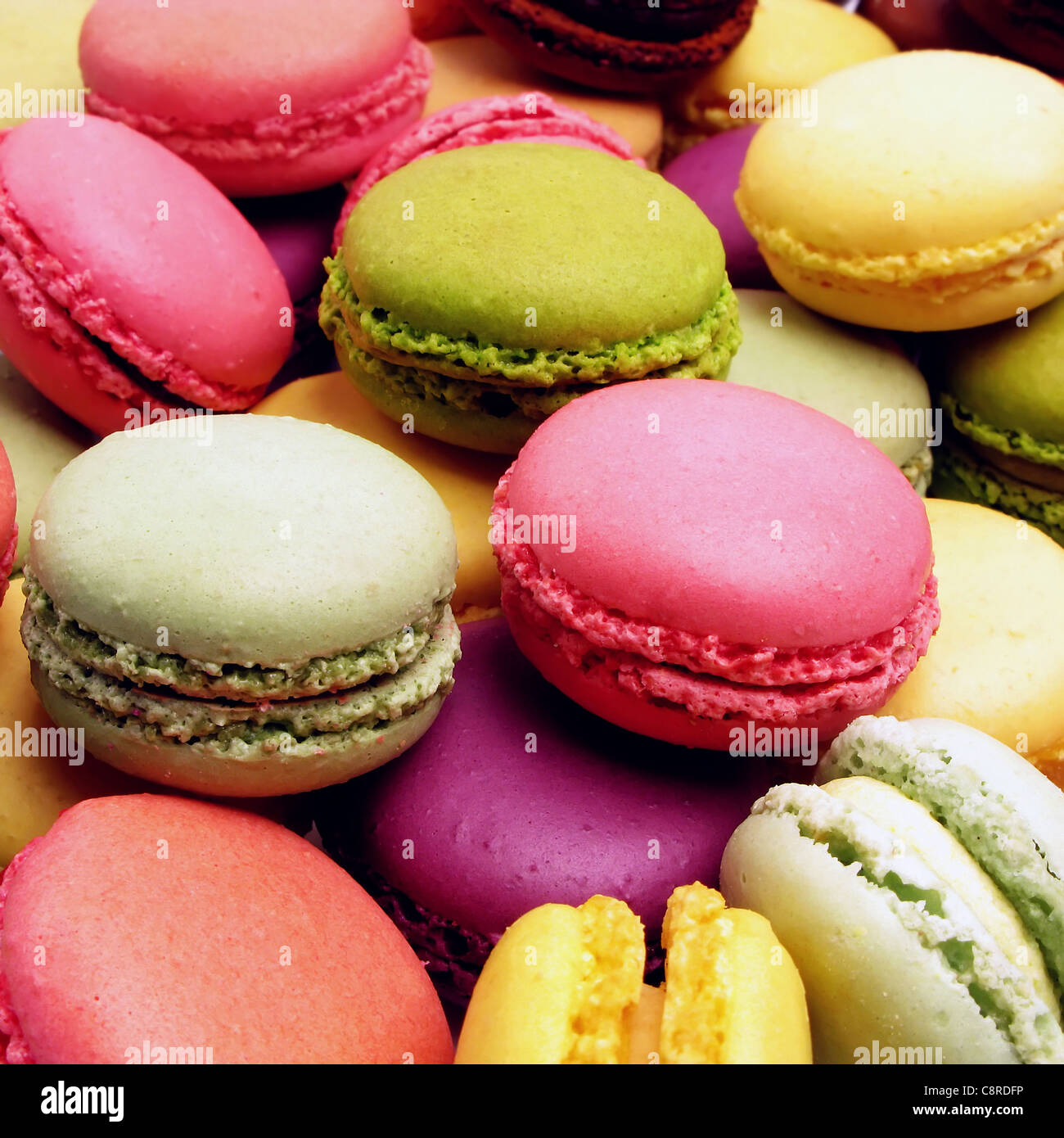 assortment of macaroons - Stock Image