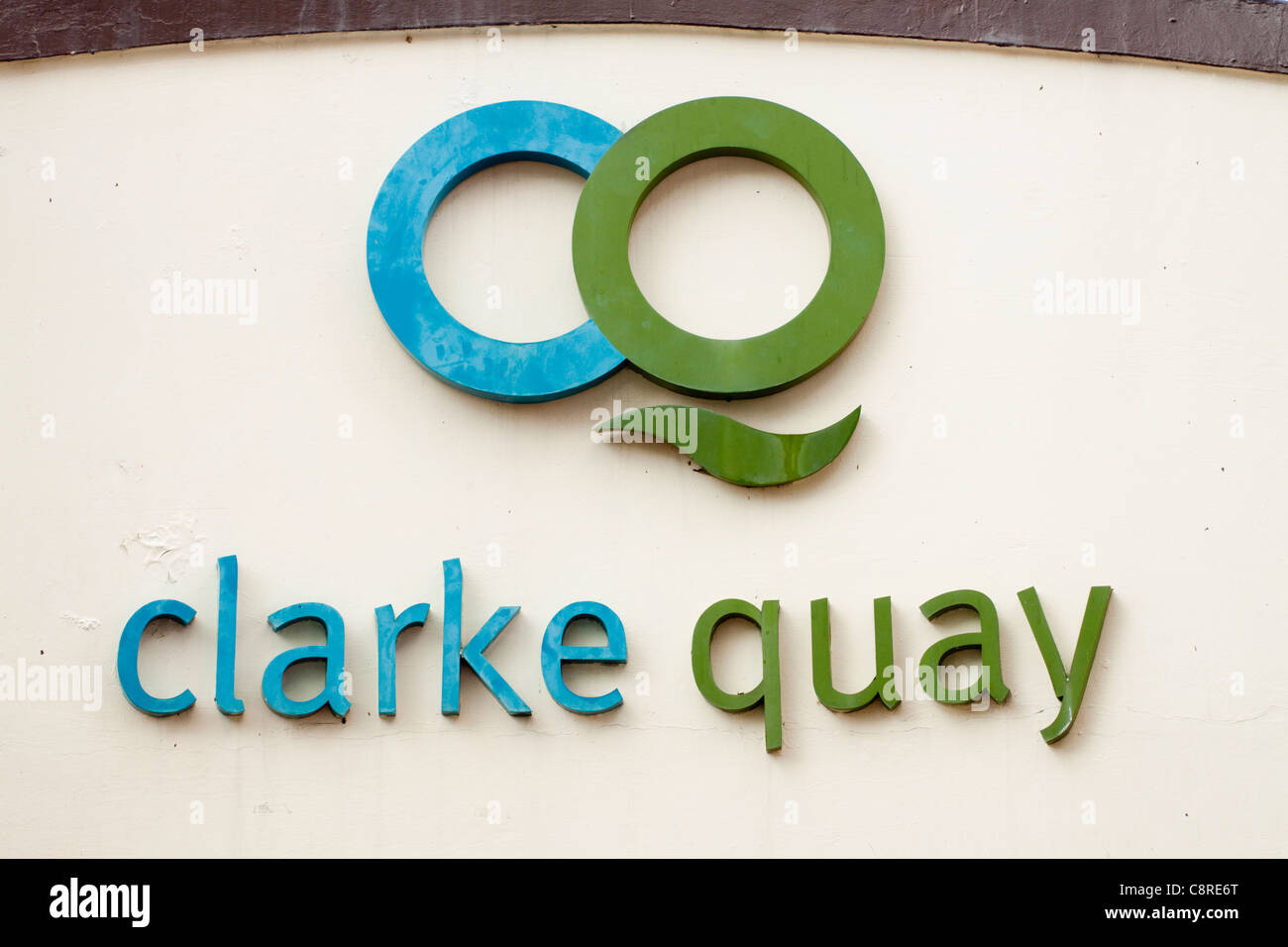 Clarke Quay sign, Singapore - Stock Image