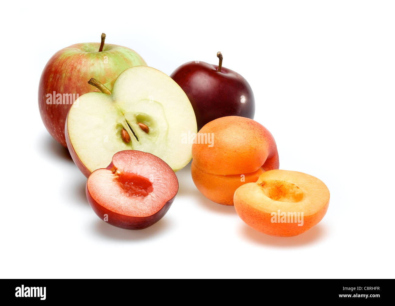 Apple Plum Apricot - Stock Image