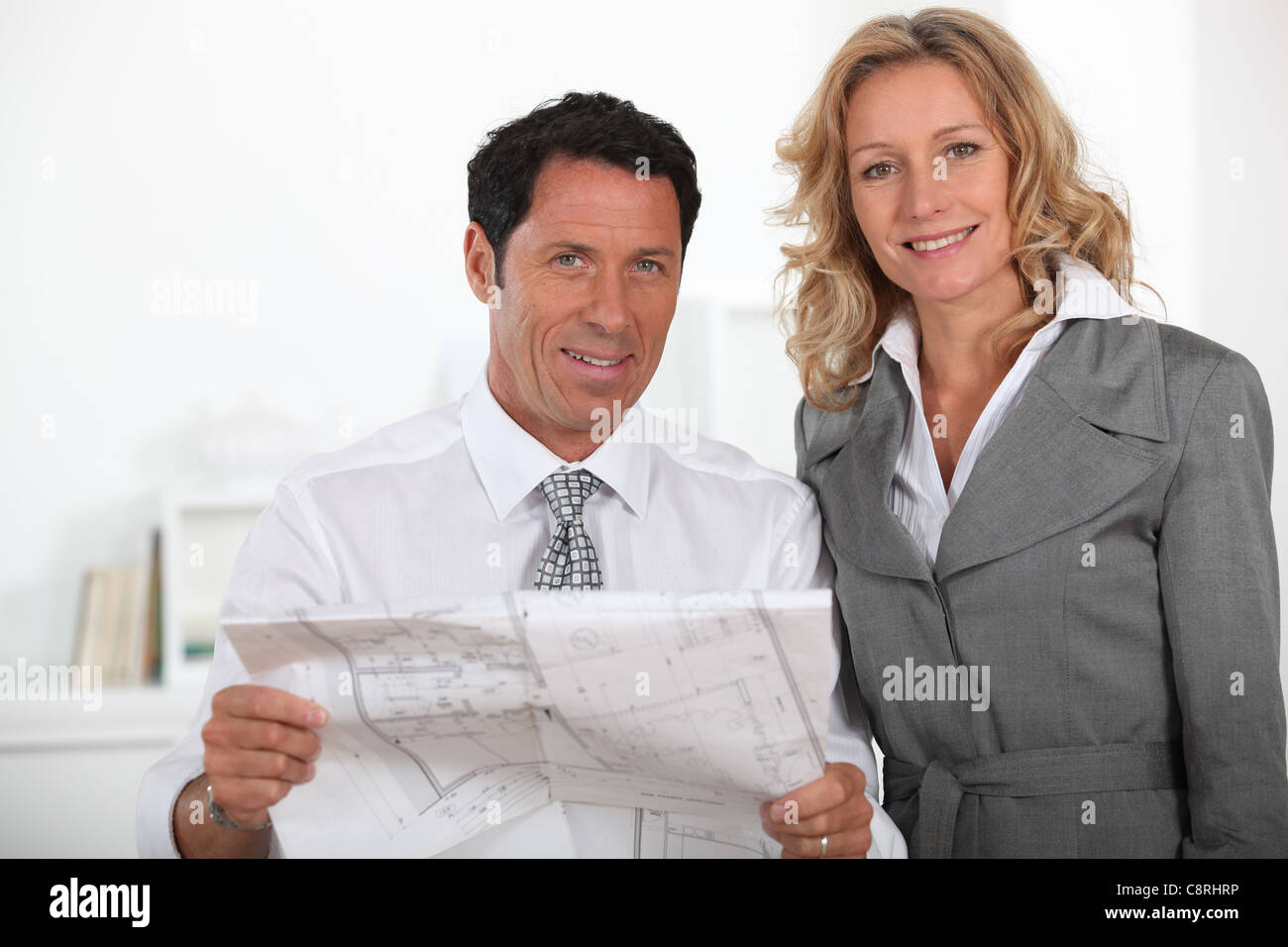 Real estate promoters - Stock Image