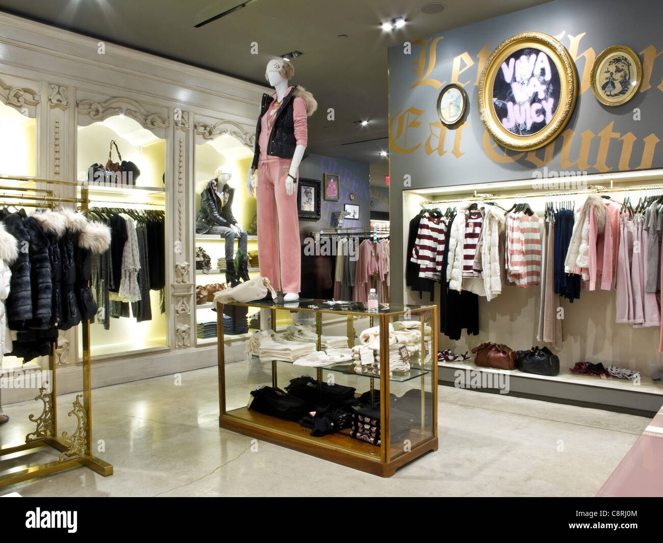 Juicy Couture,Young Adult Department, Fifth Avenue, NYC - Stock Image