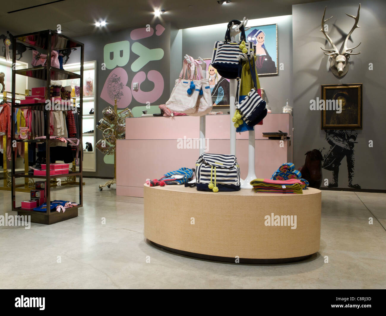 Juicy Couture, Baby's Clothes, Fifth Avenue, NYC - Stock Image