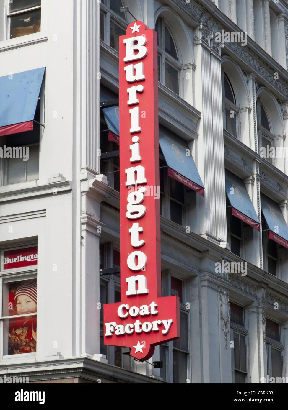 Burlington Coat Factory Department Store 6th Avenue Nyc Stock