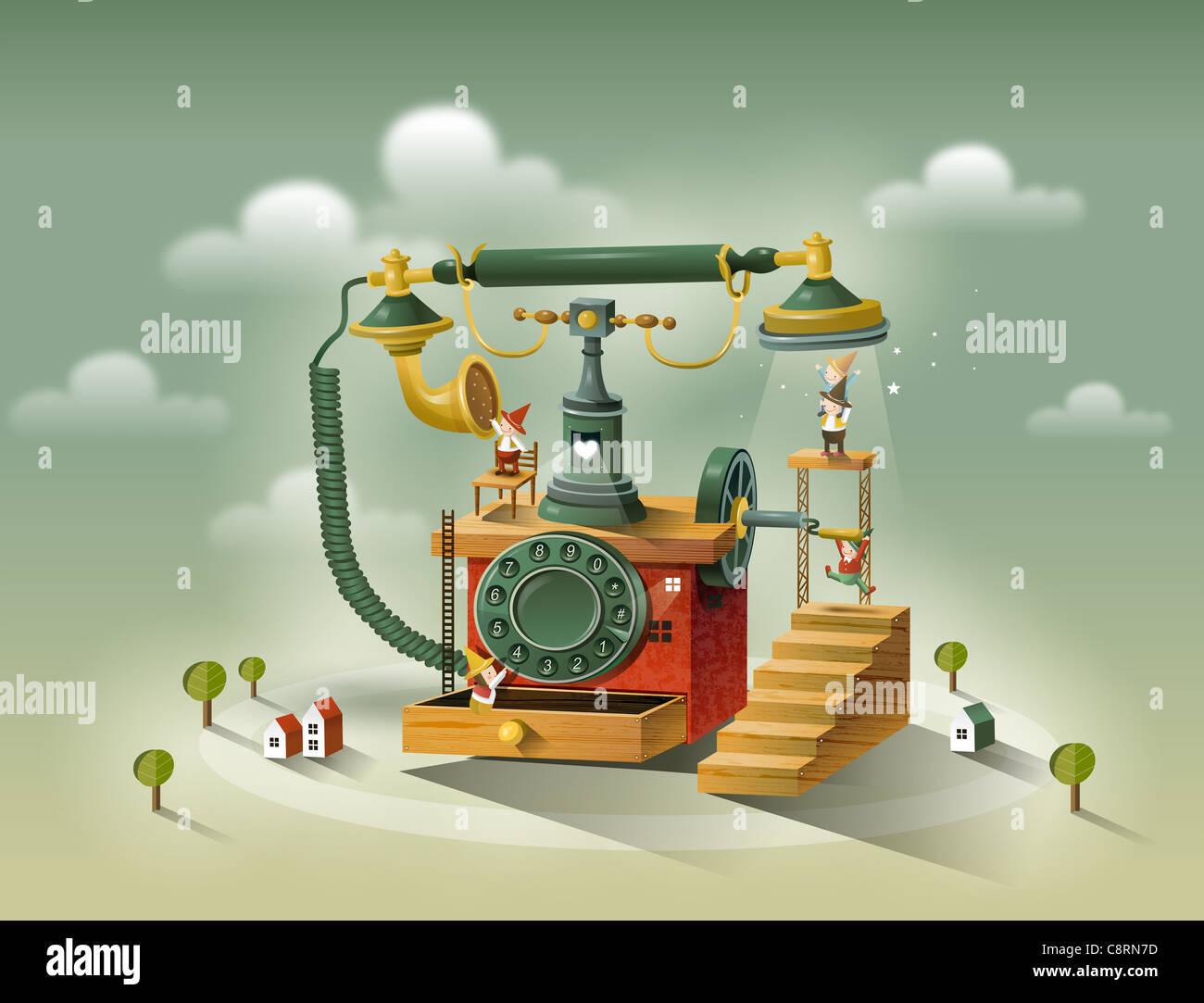 Retro Telephone - Stock Image
