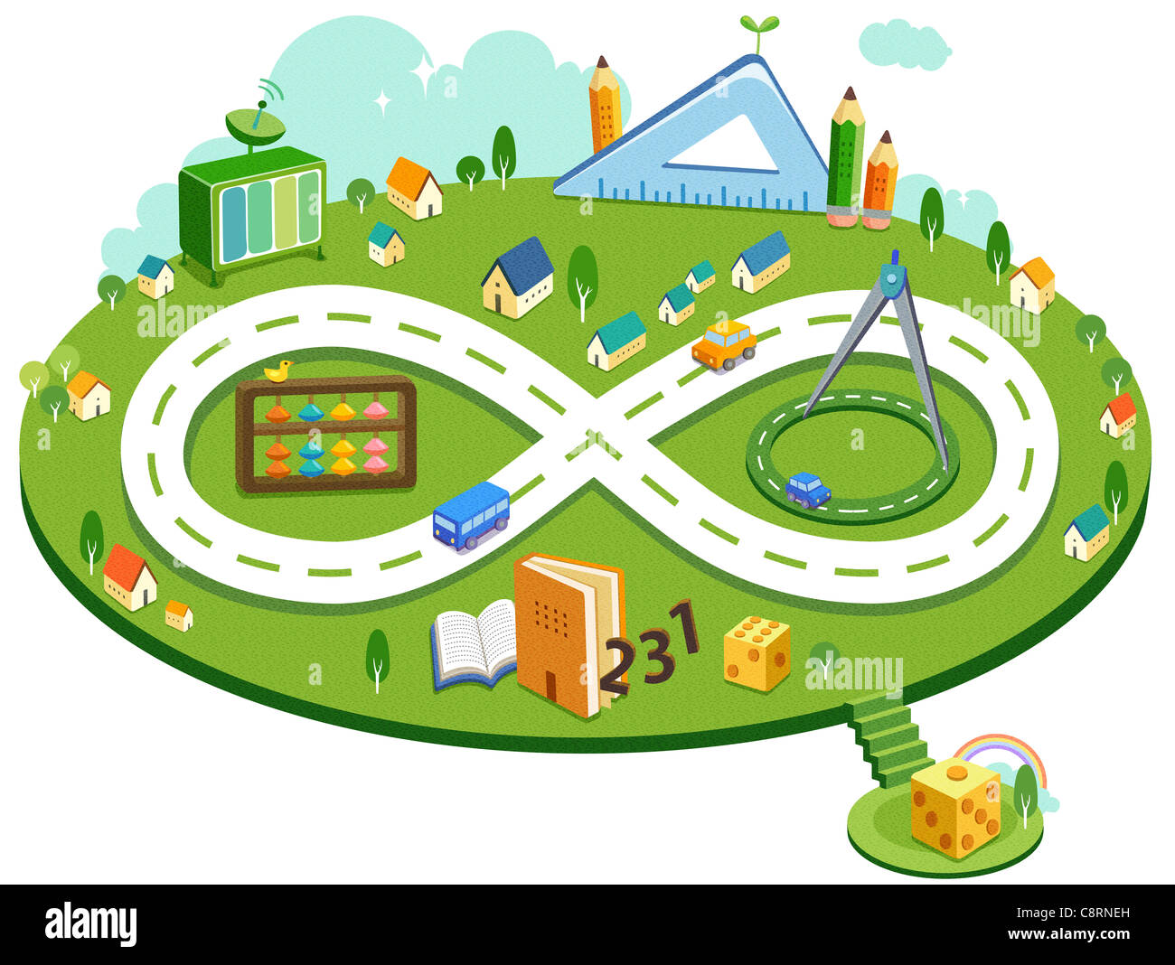 Educational Playground And Facility - Stock Image