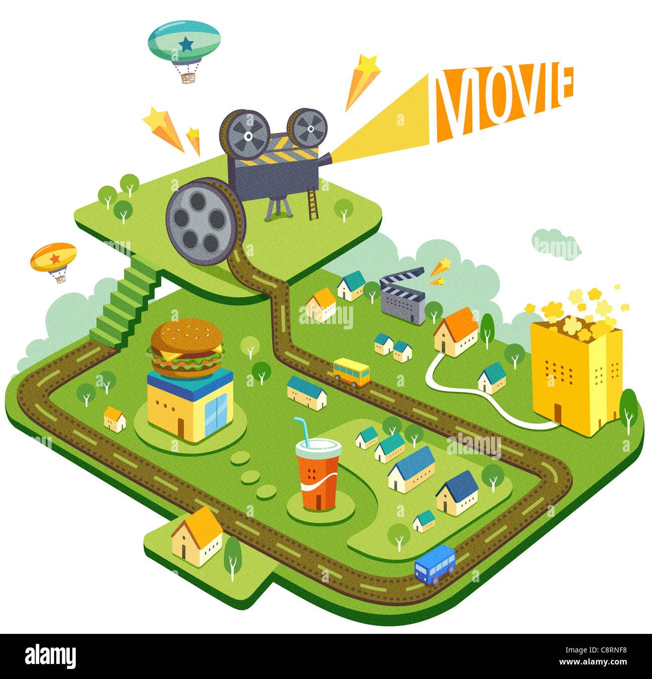 Movie Theme - Stock Image