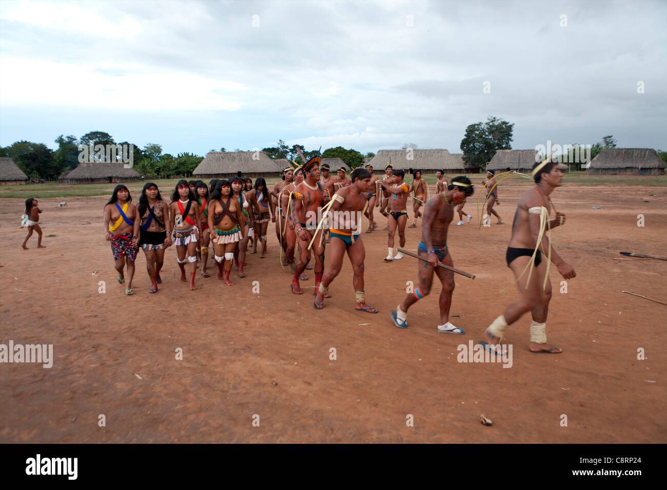 Xingu Dance, Brazil, South America Photographic Print