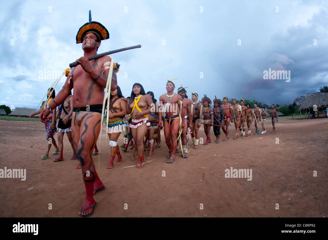 Xingu Dance Brazil South America Stock Photos & Xingu