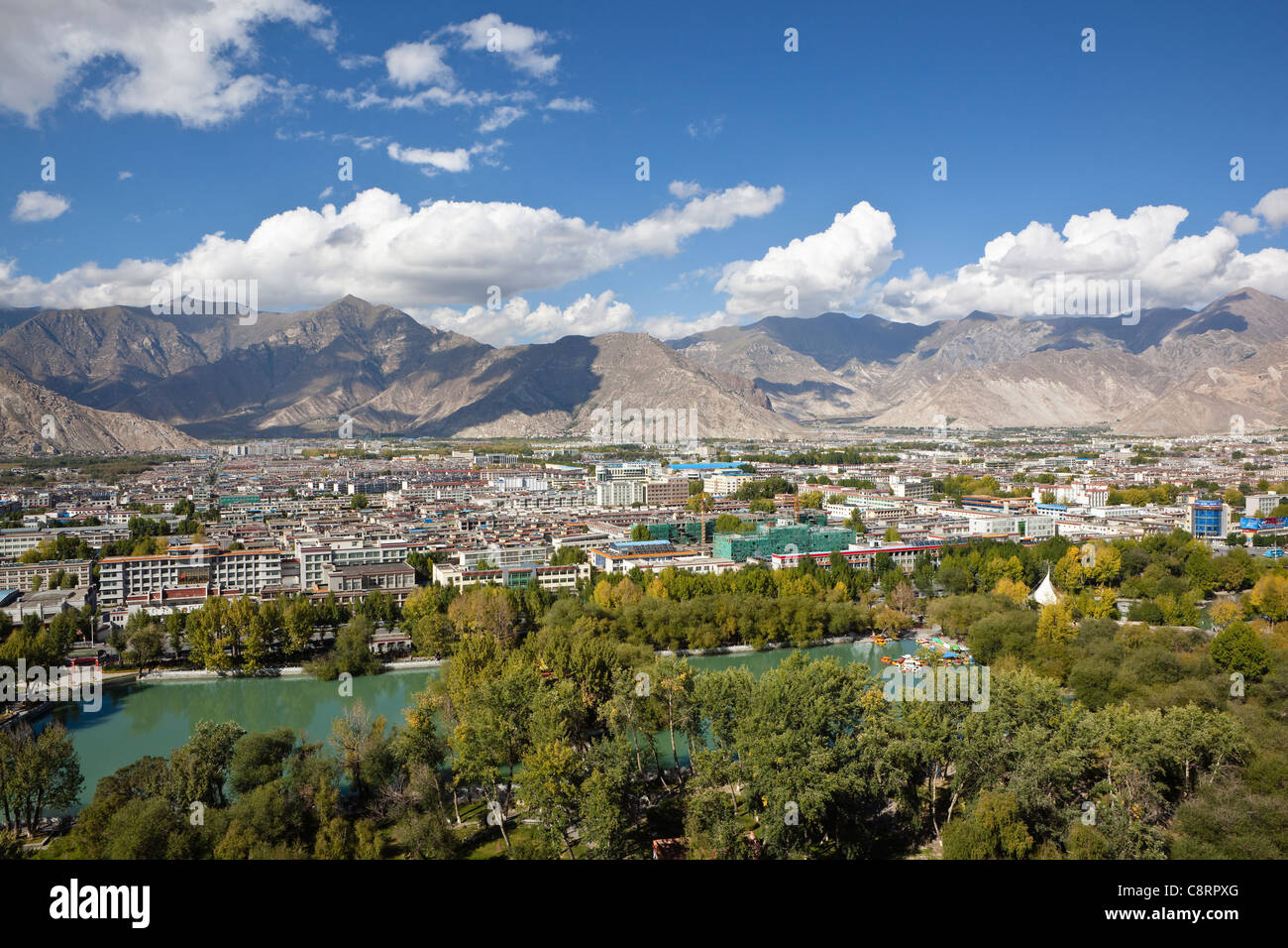 tibet: the city of lhasa - Stock Image