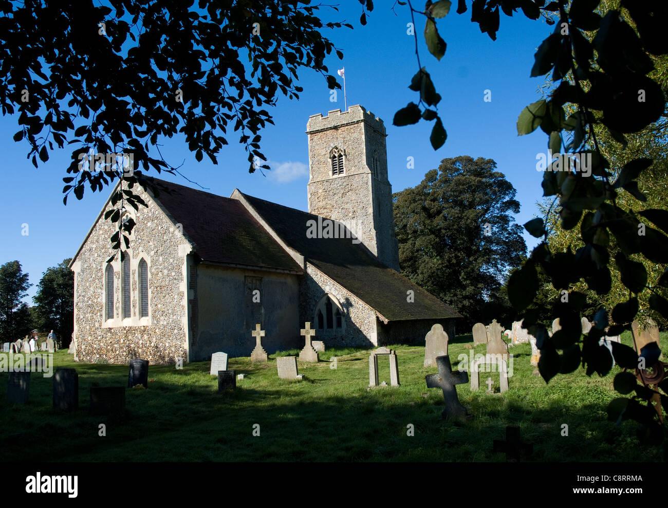 St Margaret of Antioch church, in Shottisham, Suffolk Stock Photo