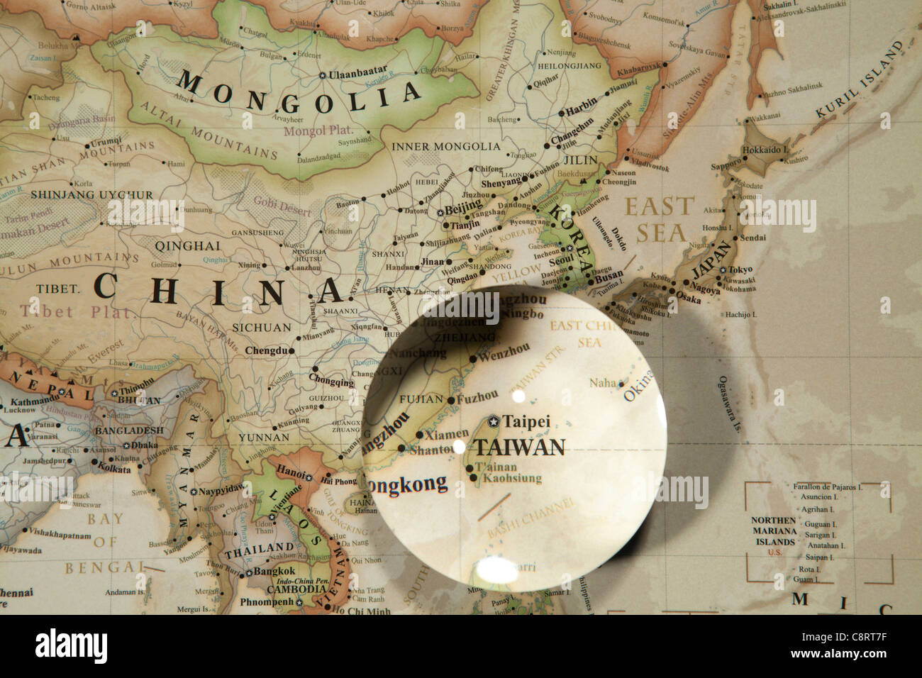 Globe world map crystal ball stock photos globe world map crystal close up of asian continent world map with crystal ball stock image gumiabroncs Image collections