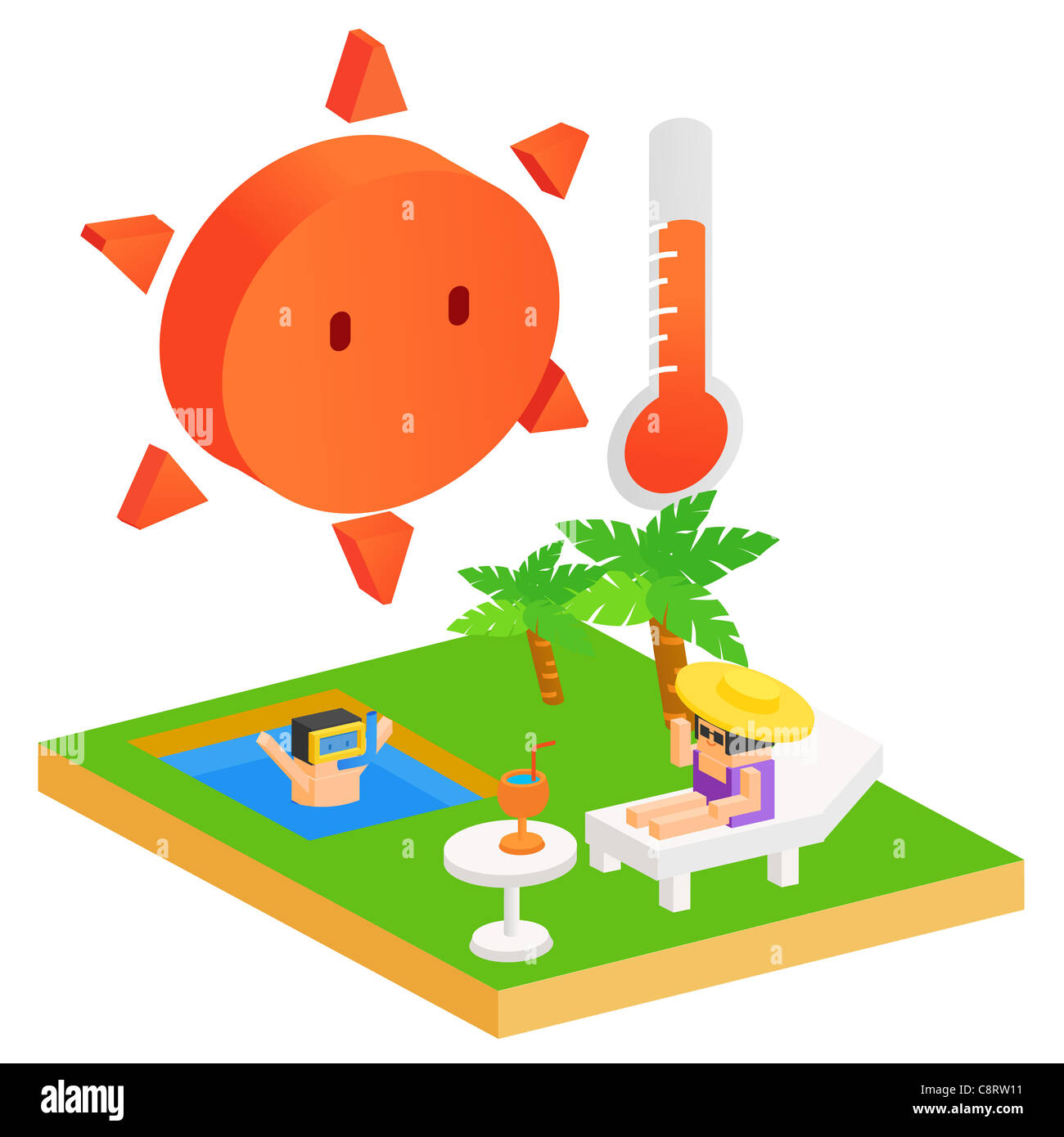 Hot Summer Day - Stock Image