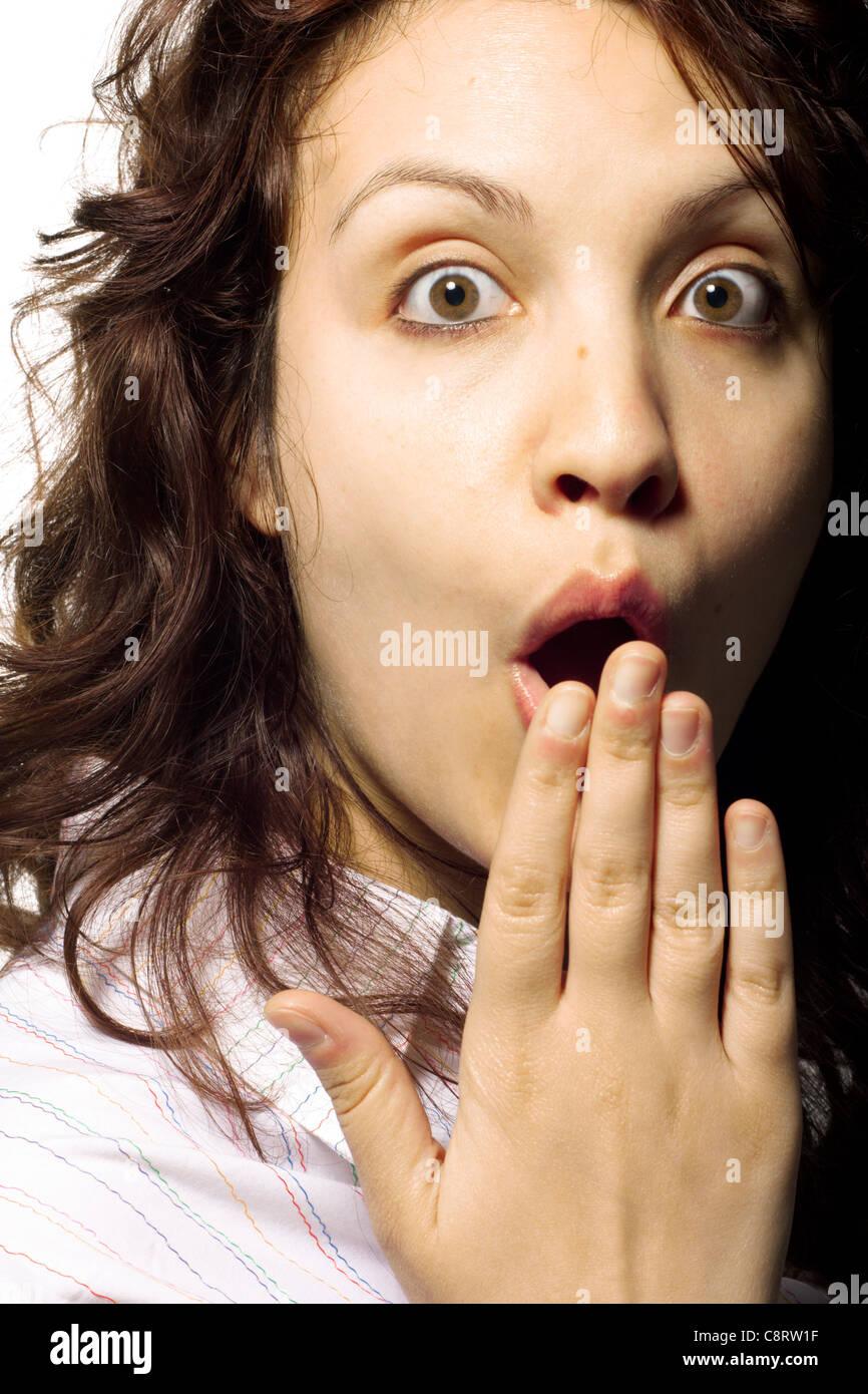 Amazed Woman - Stock Image