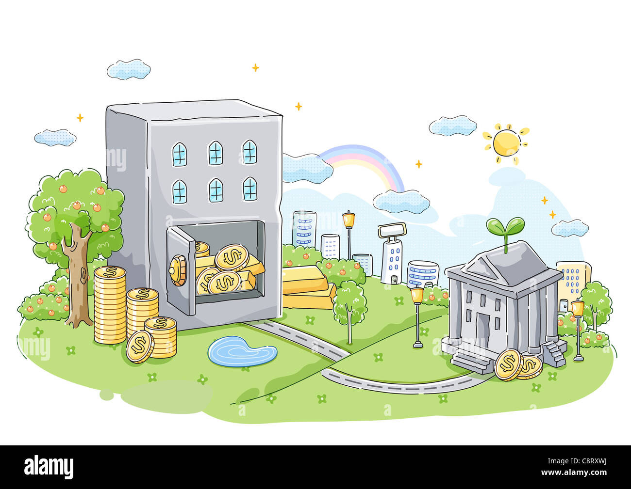 Concept of banking and savings - Stock Image
