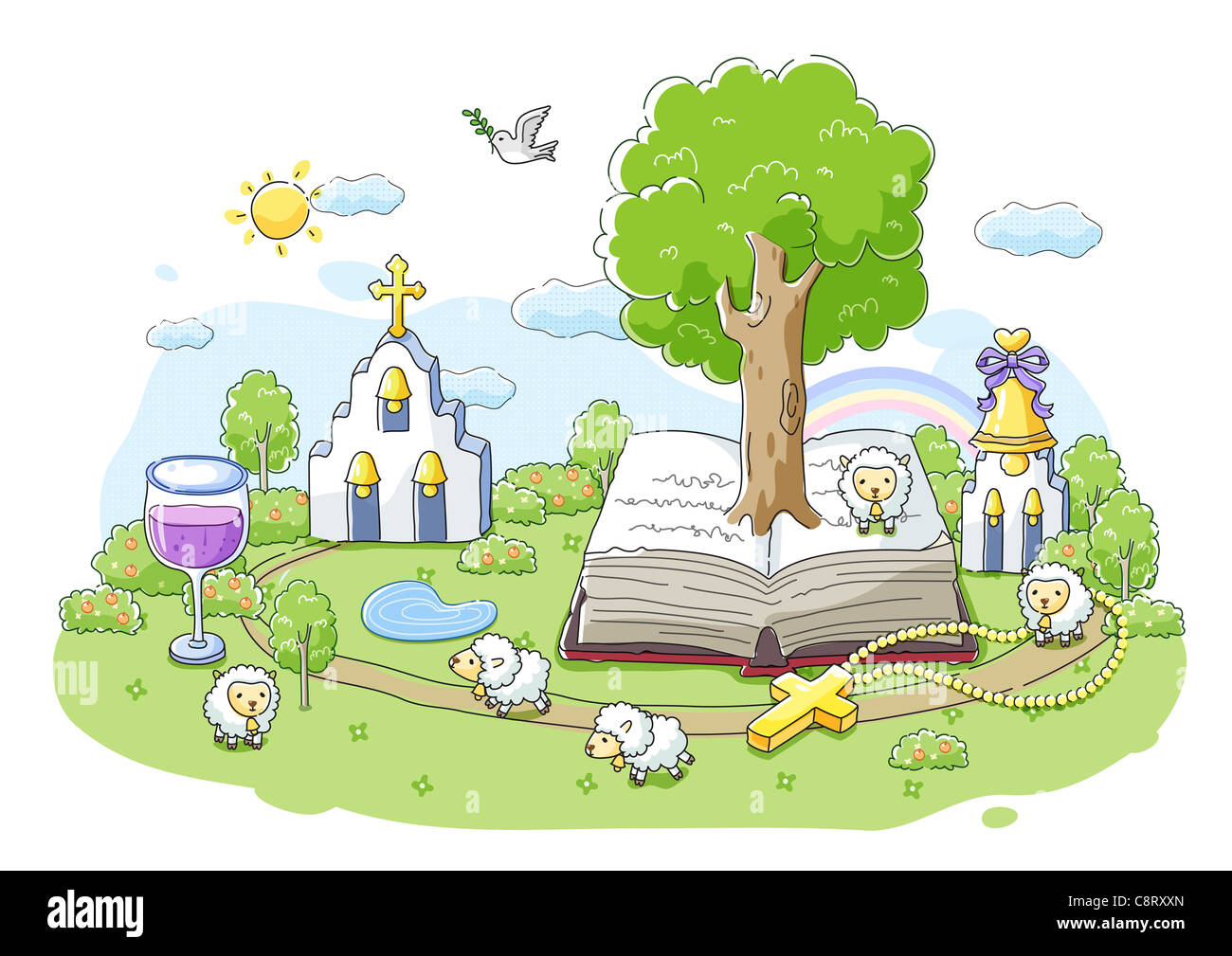 Concept of church and bible - Stock Image