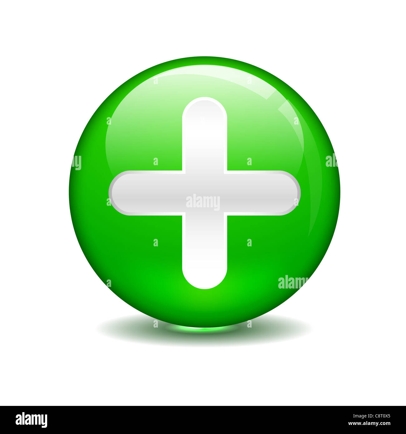 plus sign in green circle stock photo 39865565 alamy