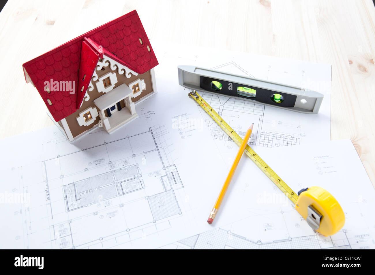 Model home diagram stock photos model home diagram stock images house diagram paper and house model stock image ccuart Gallery