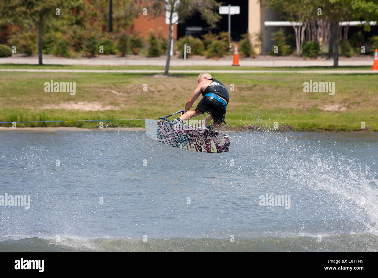 Wake board demonstration Stock Photo