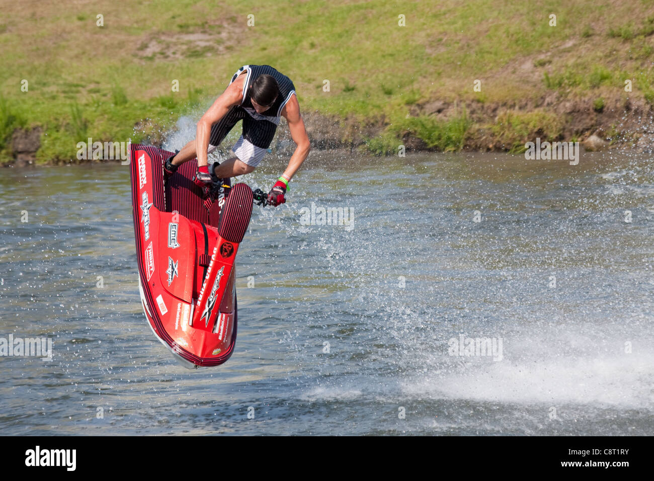 Jet Ski Stunt Demonstration - Stock Image