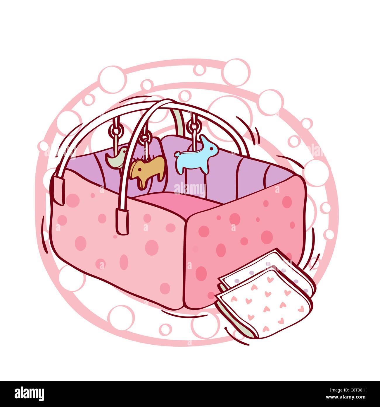 Illustration Of Crib Stock Photos & Illustration Of Crib Stock ...
