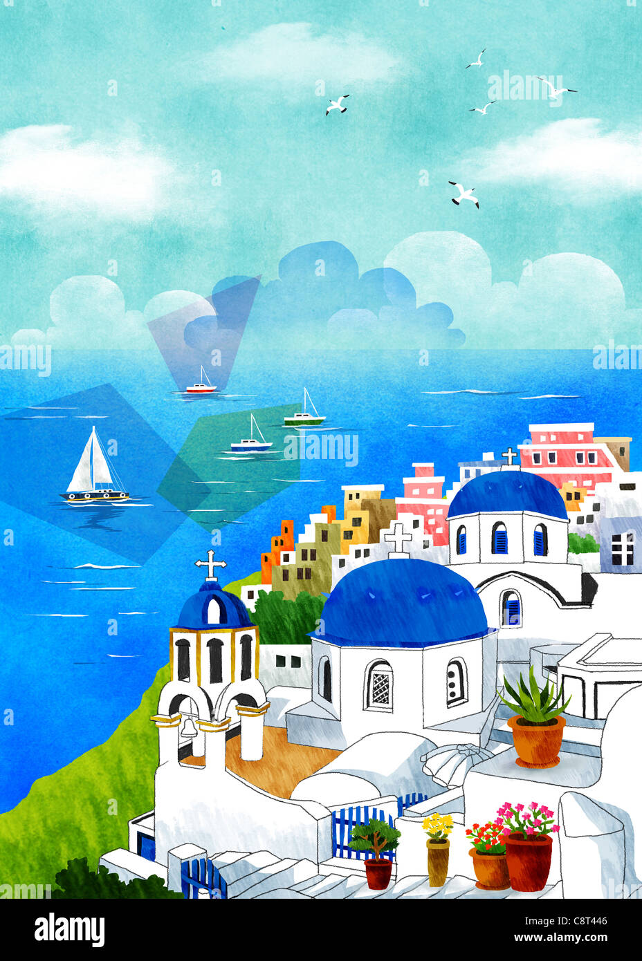 Oia Santorini Greece - Stock Image