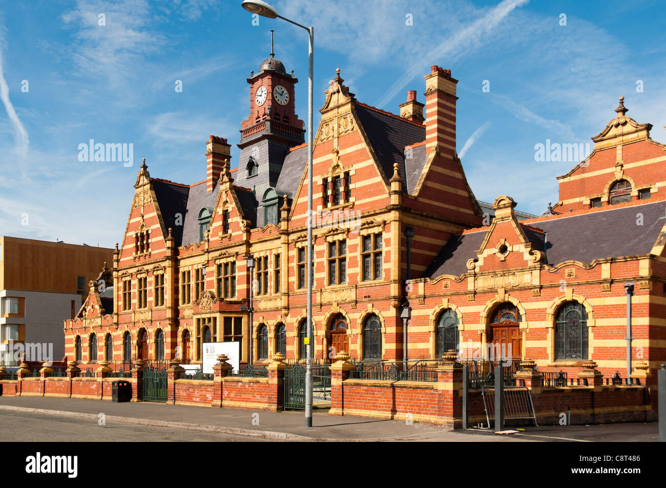 Victoria Baths, Manchester, England, UK. Designed by the City Surveyor T. de Courcy Meade and his assistant Arthur - Stock Image