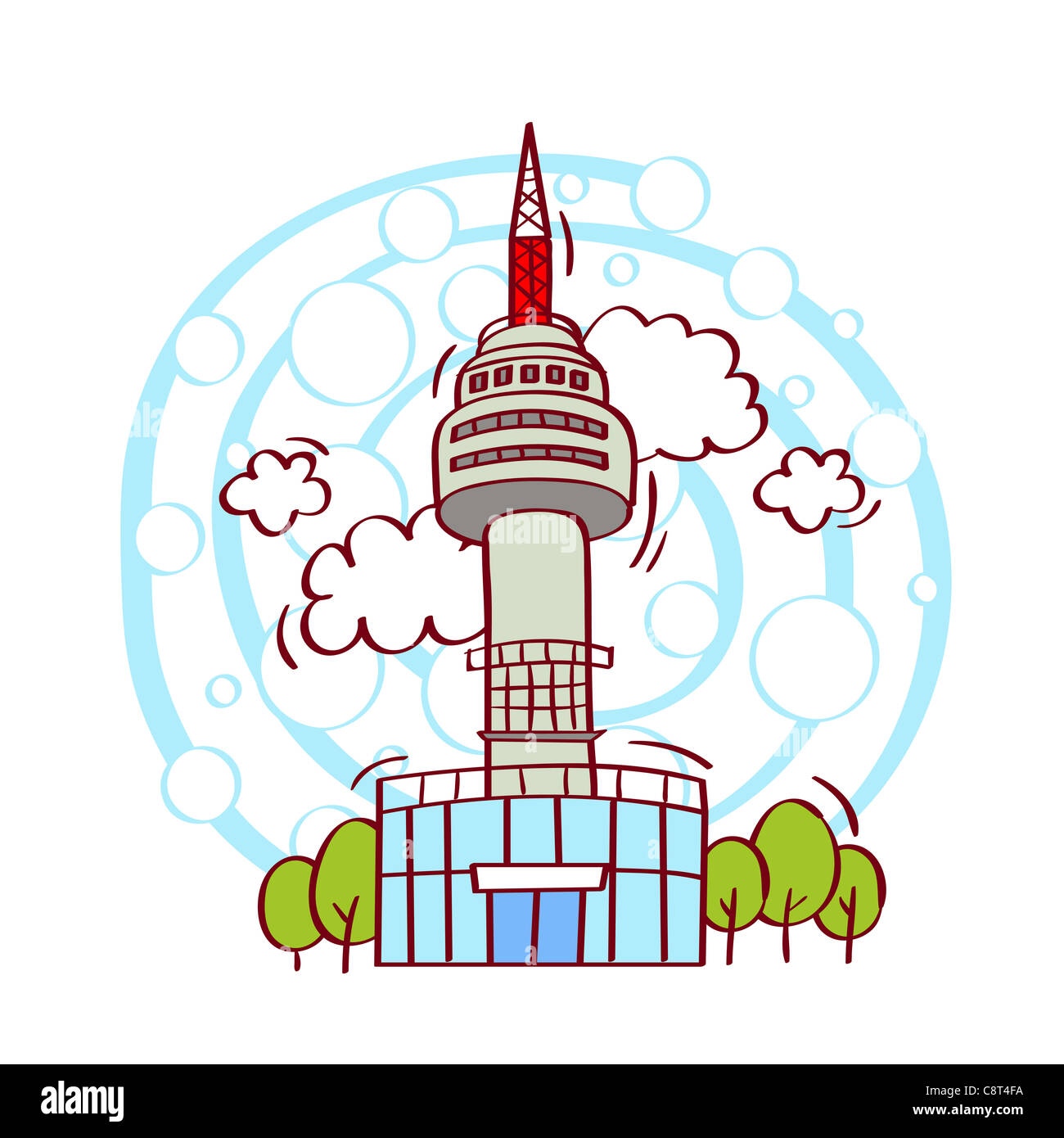 seattle space needle cut out stock images pictures alamy