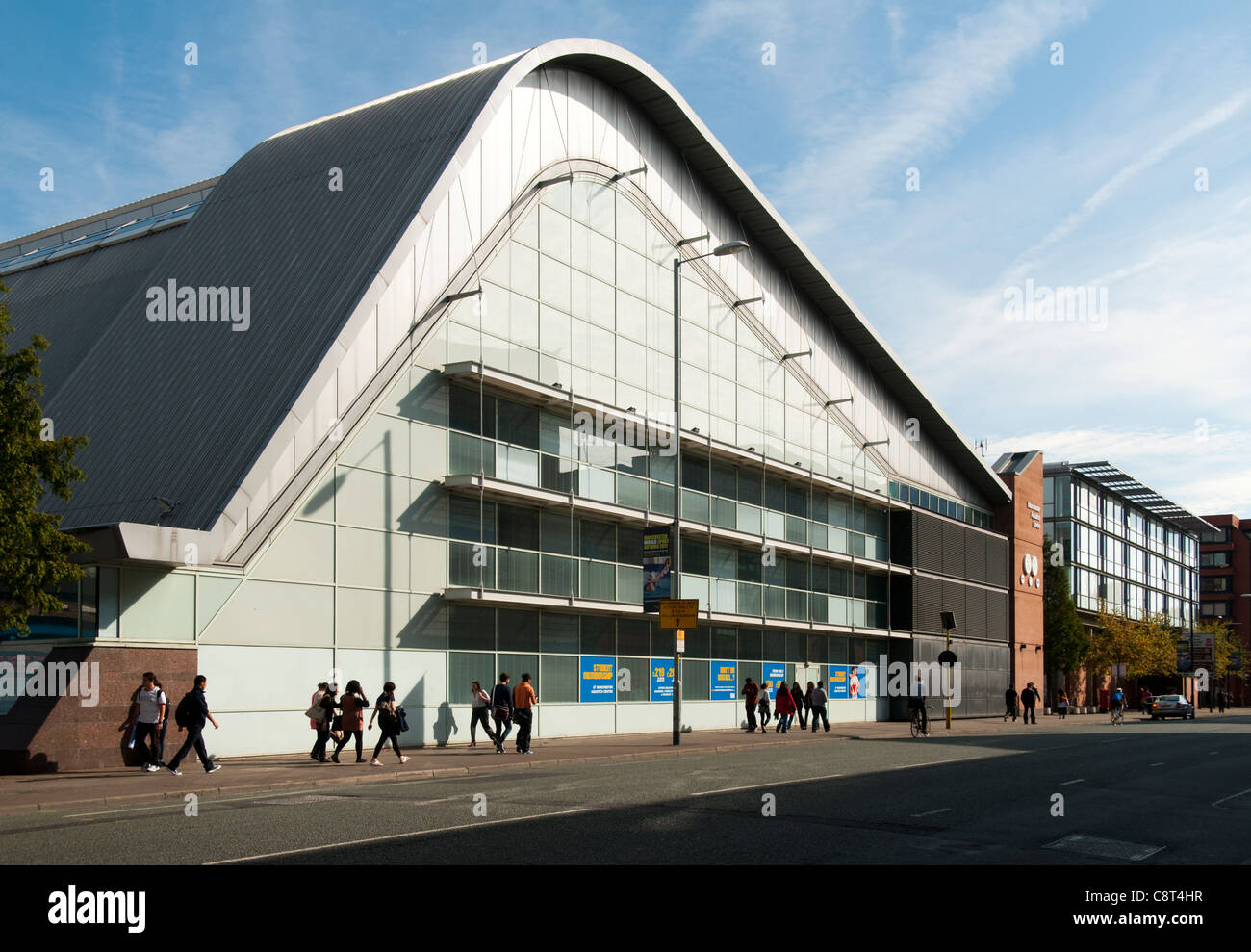 The Aquatics Centre, Faulkner Brown, 1997. Oxford Road, Manchester, England, UK.  Built for the 2002 Commonwealth - Stock Image