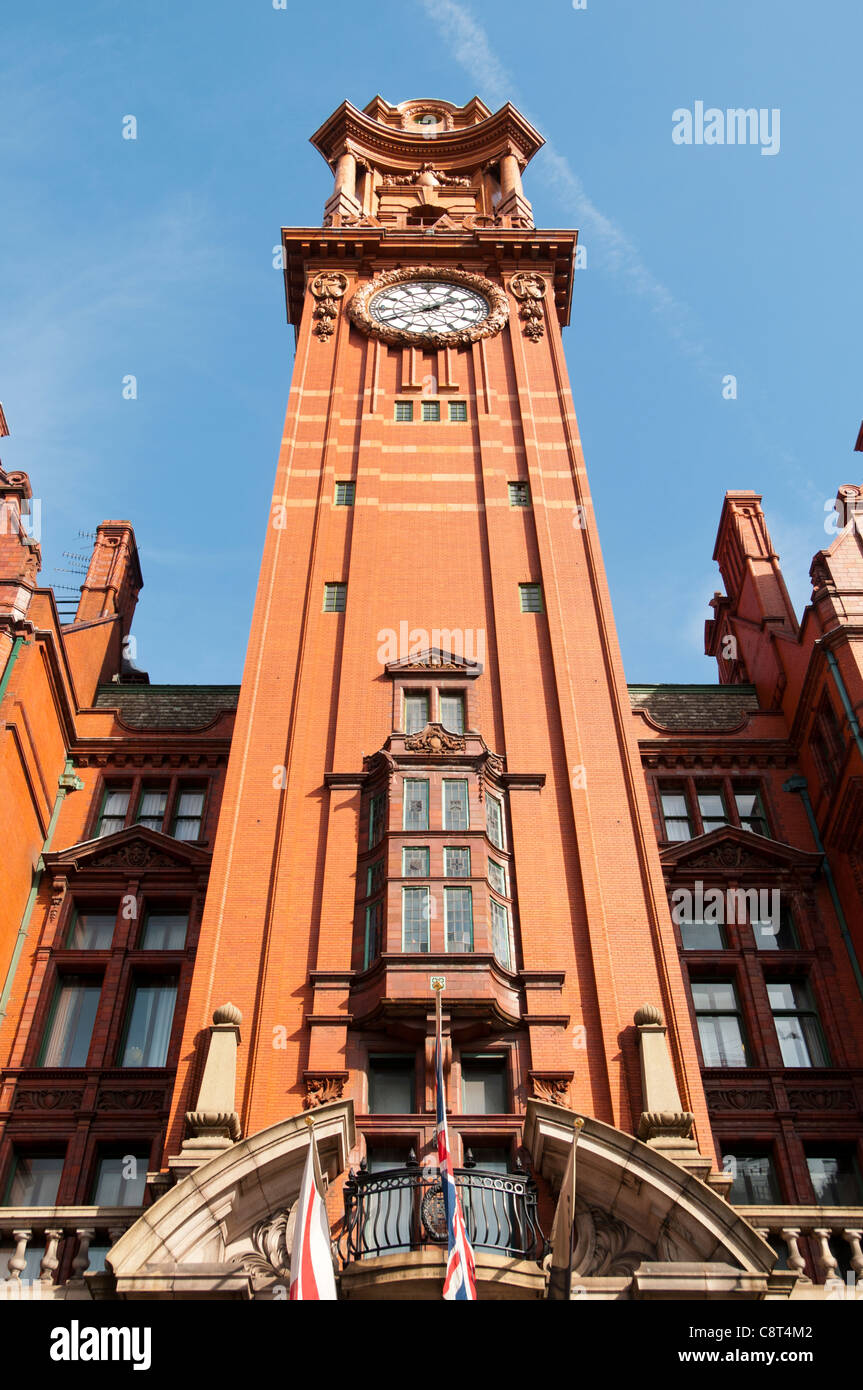 Tower of the Refuge Assurance building. Paul Waterhouse,1910-12. Oxford Road, Manchester, England, UK.  Now the - Stock Image