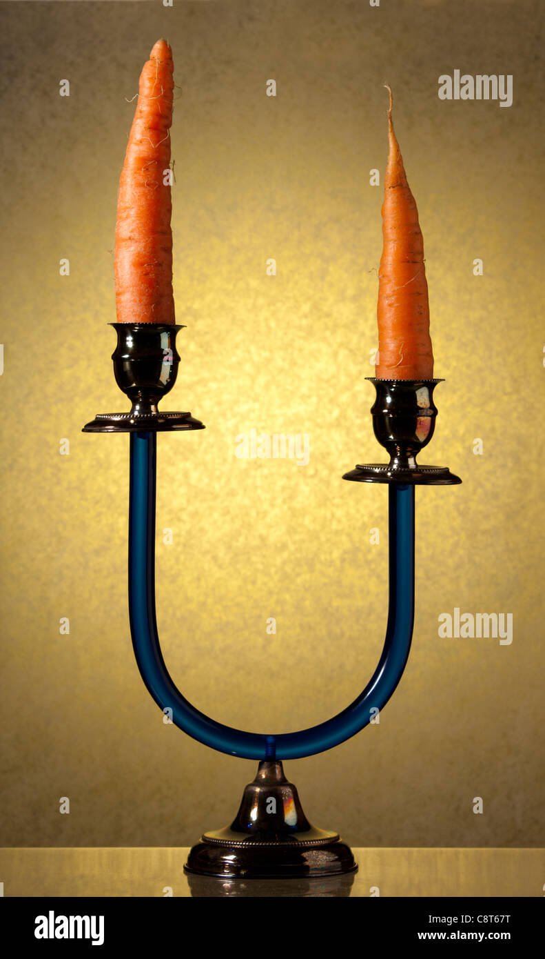 Candlestick with Carrots - Stock Image
