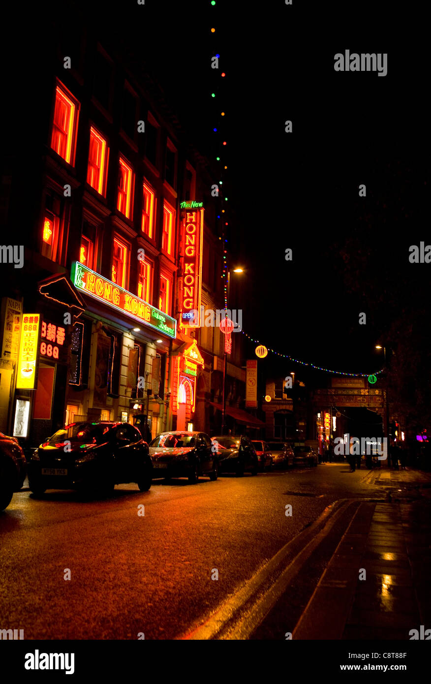 China town in manchester 2011 Stock Photo