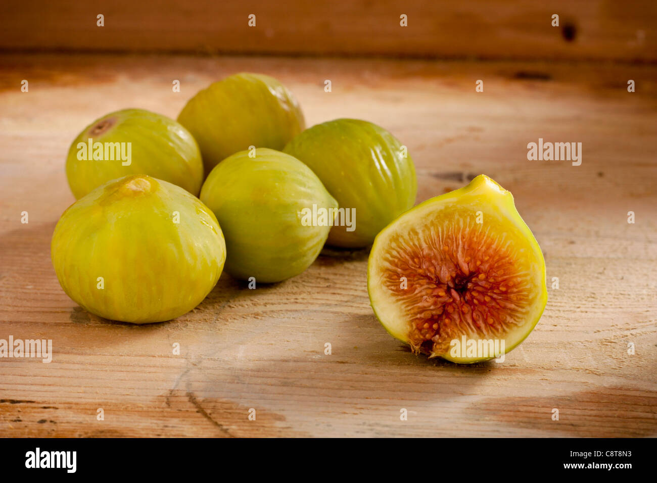 Figs on Wood - Stock Image