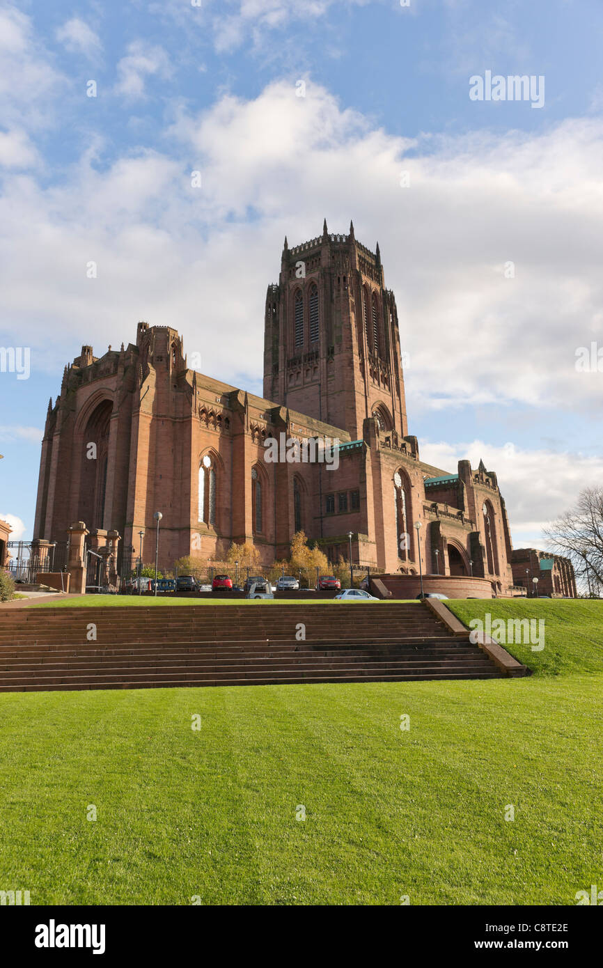 Liverpool Cathedral  the Church of England cathedral of the Diocese of Liverpool. - Stock Image