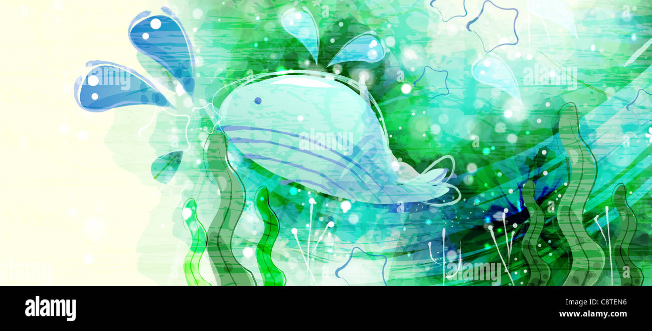 Whale Fish In Water Stock Photo