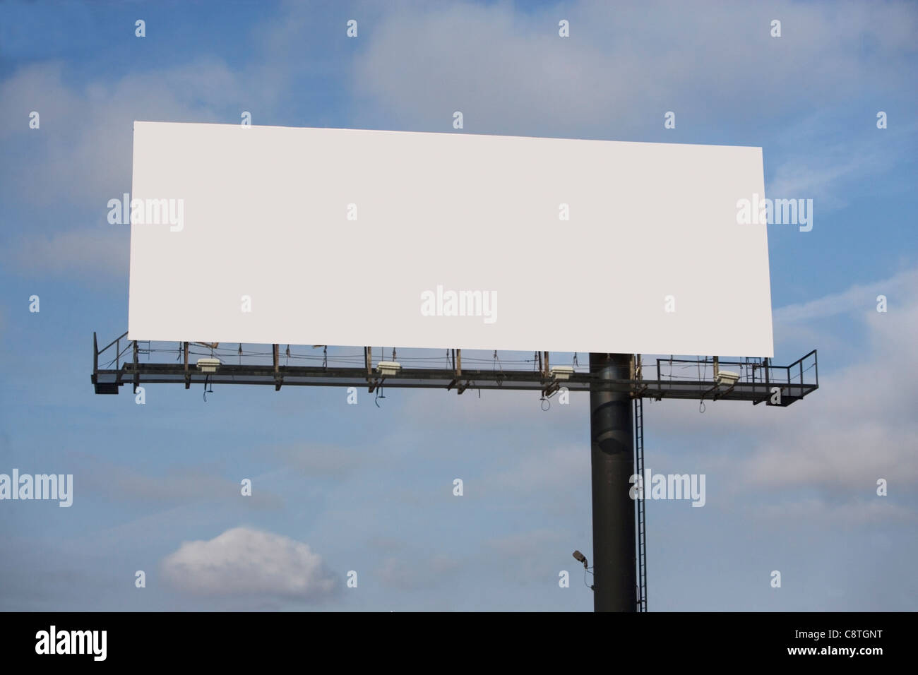 USA, New York State, Blank billboard - Stock Image