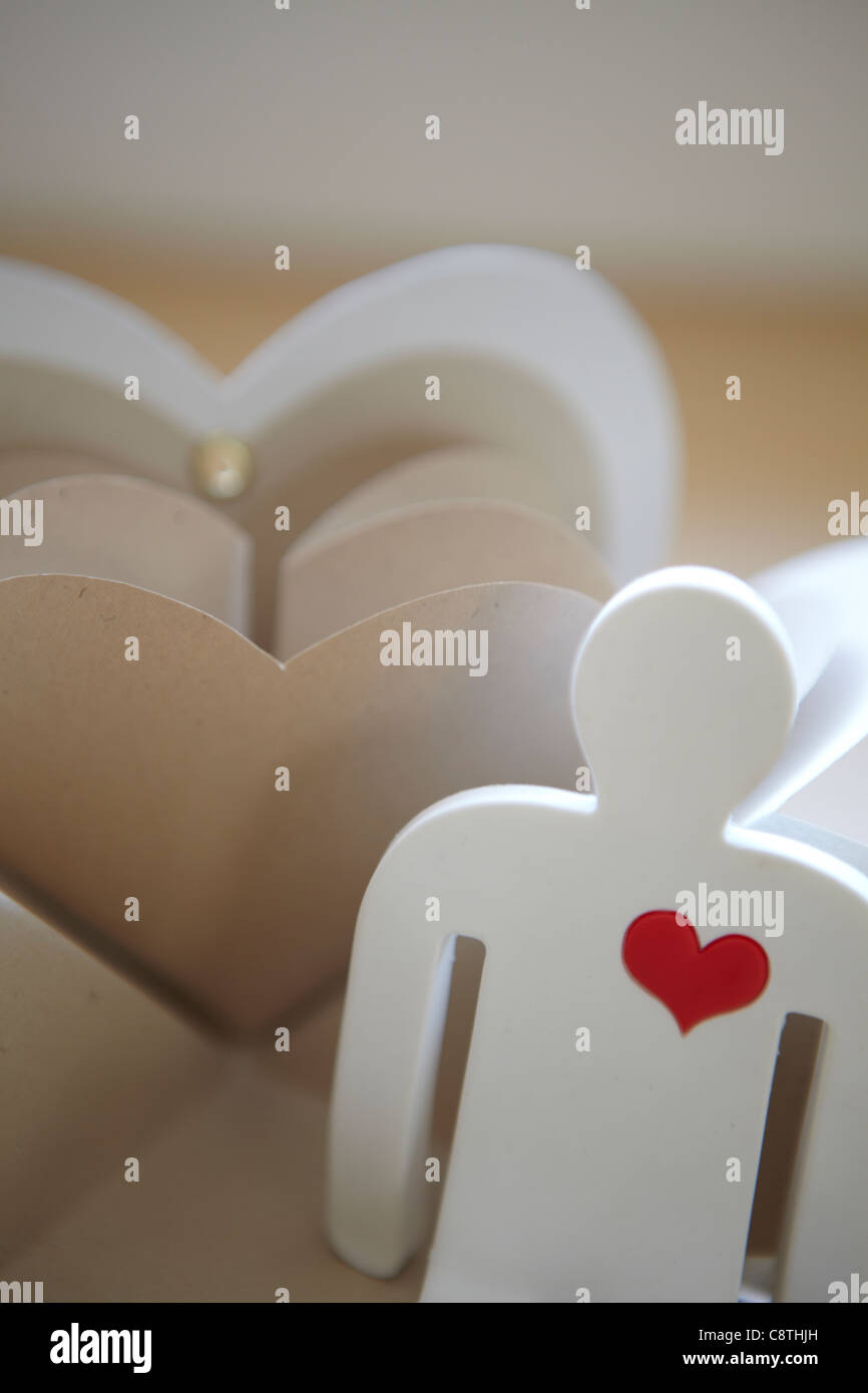 Heart With Human Representation - Stock Image