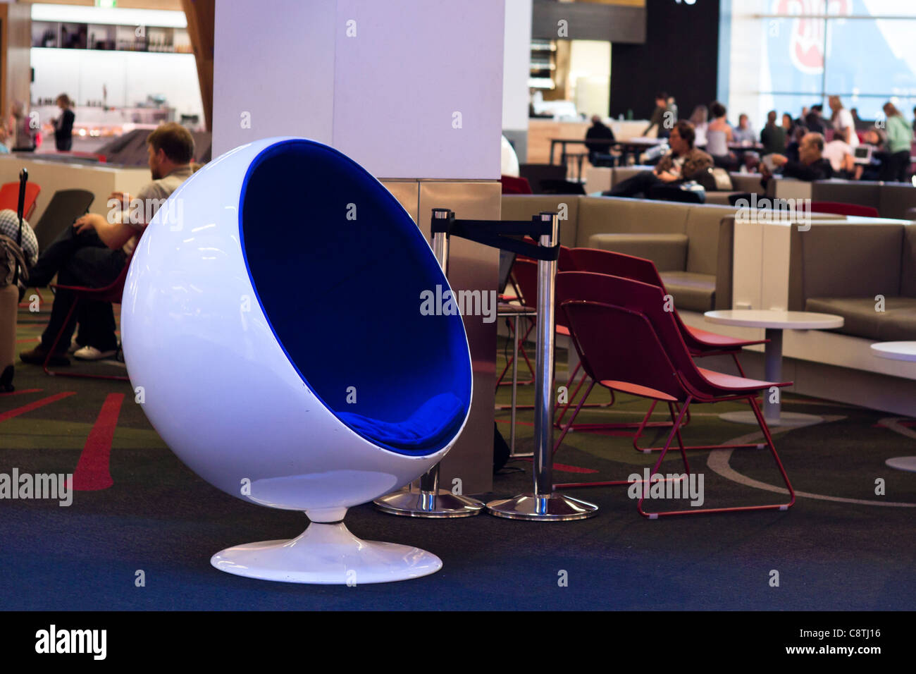 Modern Ball Chair At The Airport. Auckland International Airport, New  Zealand.   Stock