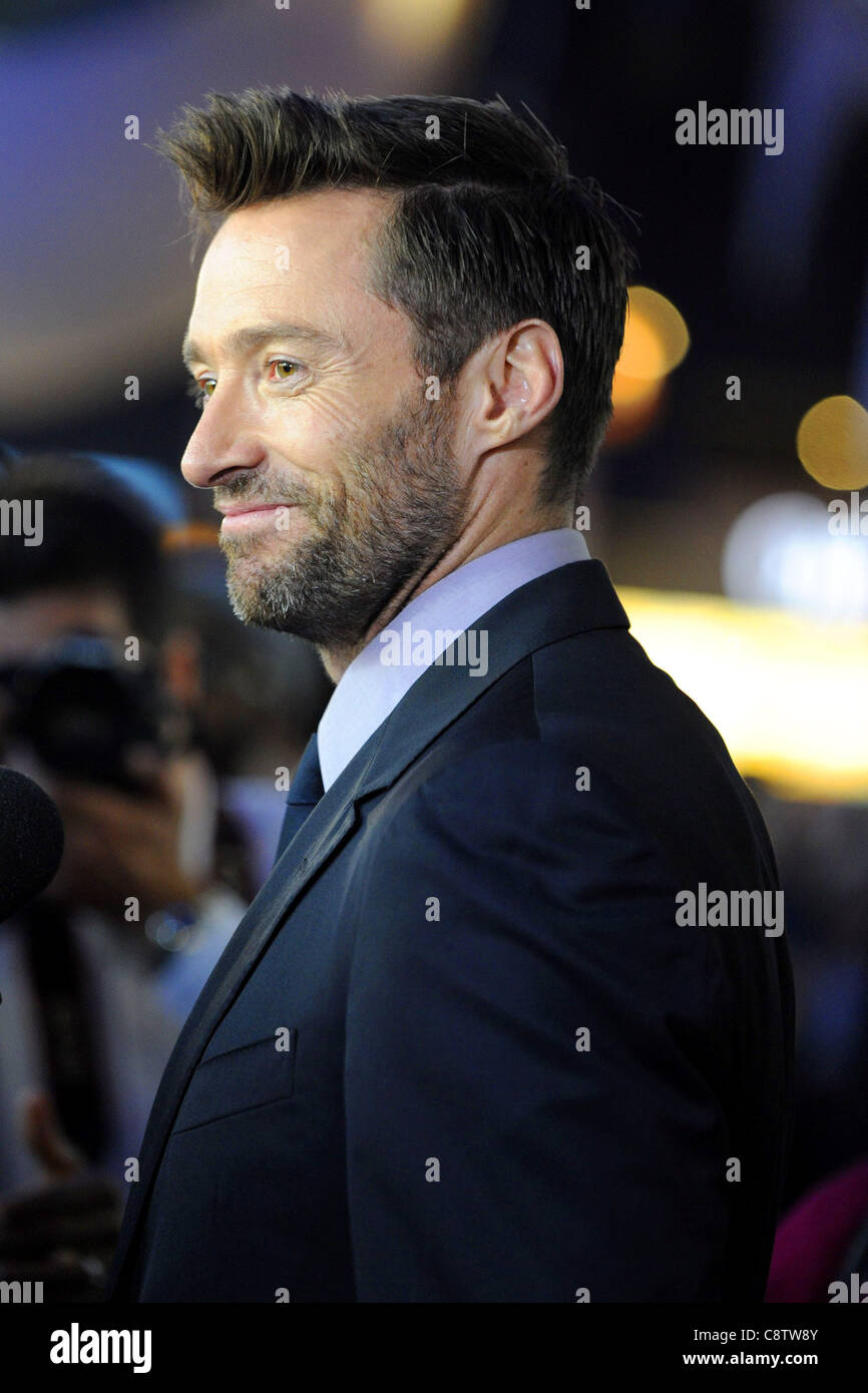 Hugh Jackman at arrivals for REAL STEEL Canadian Premiere, Scotiabank Theatre, Toronto, ON September 20, 2011. Photo - Stock Image
