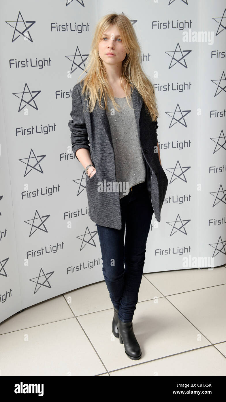Clemence Poesy arrives for the First Light Awards at a central London venue. - Stock Image