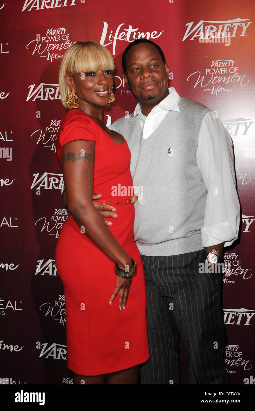 Mary J. Blige, Kendu Isaacs at arrivals for Variety's 3rd Annual Power of Women Luncheon, Beverly Wilshire Four - Stock Image