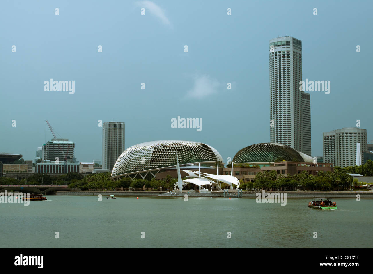 Performing Arts Center, Esplanade, Marina Bay, locally known as the durian due to its resemblance to the fruit, - Stock Image