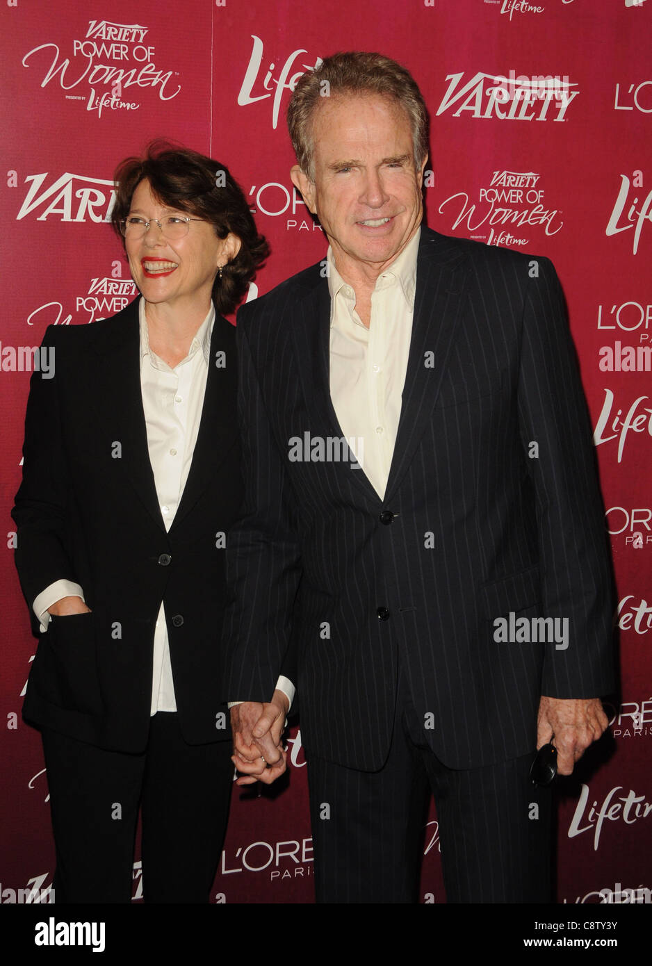 Annette Bening, Warren Beatty at arrivals for Variety's 3rd Annual Power of Women Luncheon, Beverly Wilshire - Stock Image