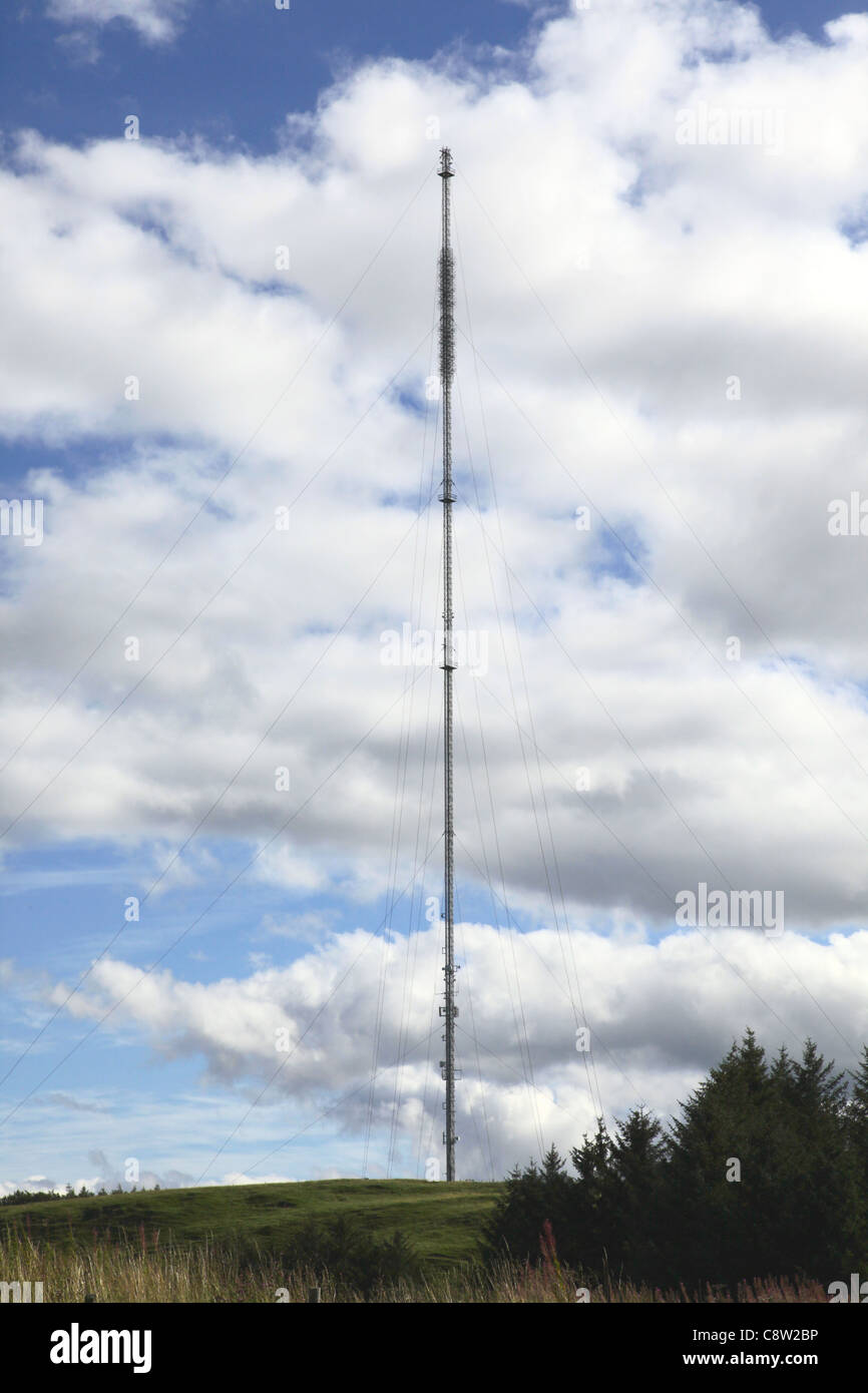 Selkirk Freeview digital TV transmitter Scottish Borders - Stock Image