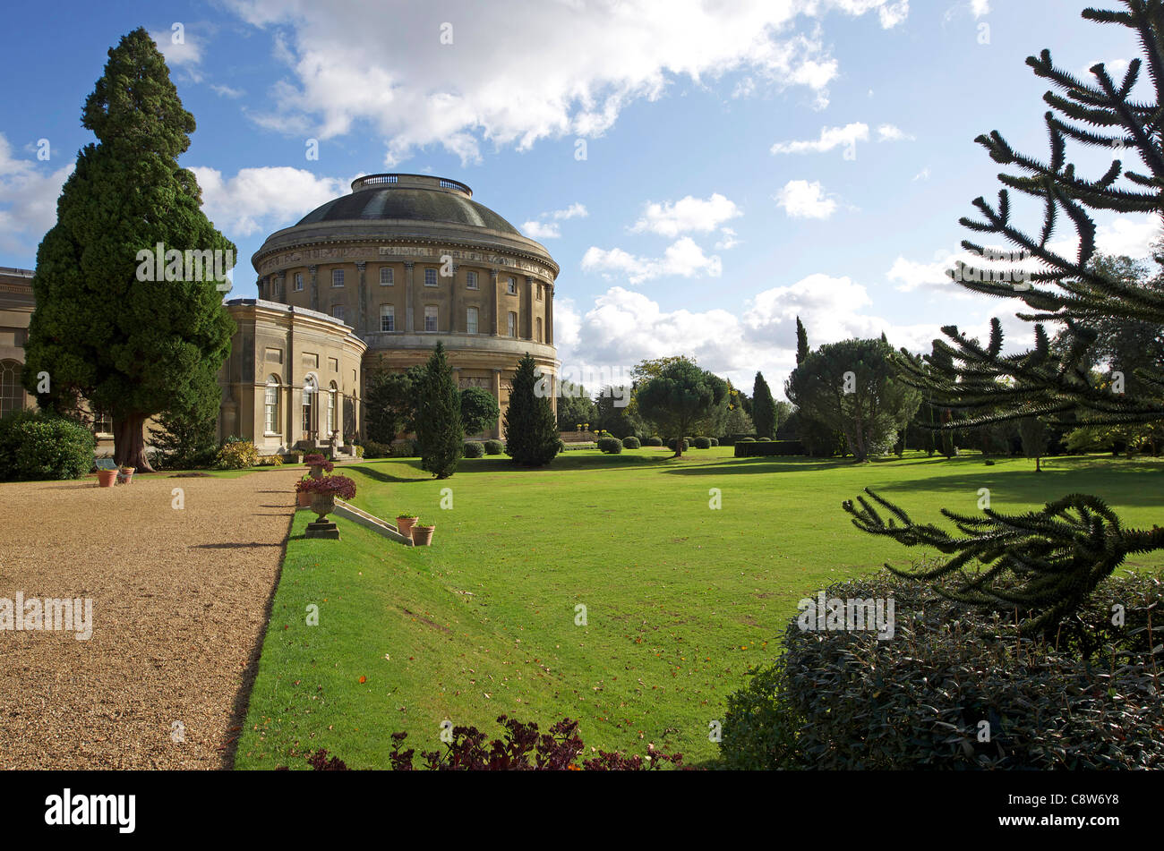 Ickworth House from The Italianate Gardens - Stock Image